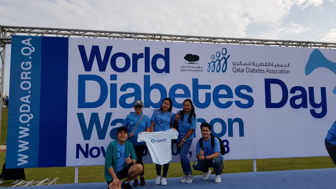 Manzil Healthcare Participated in the World diabetes Day Walkathon to Raise Diabetes Awareness